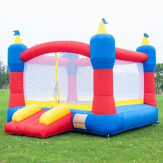 Costway Bounce House Magic Castle Inflatable Bouncer Kids Jumper Slide without Blower