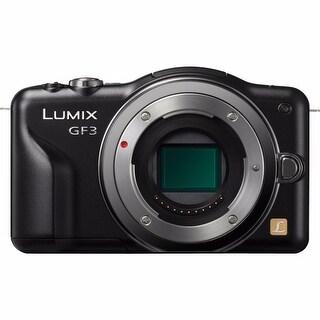 Panasonic Lumix DMC-GF3 12.1MP Black Digital Camera Body Only