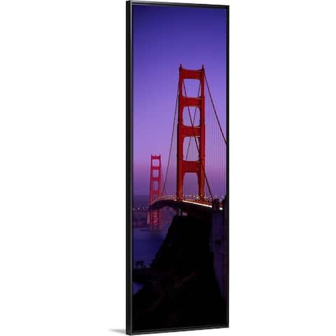 """Golden Gate Bridge San Francisco CA"" Black Float Frame Canvas Art"