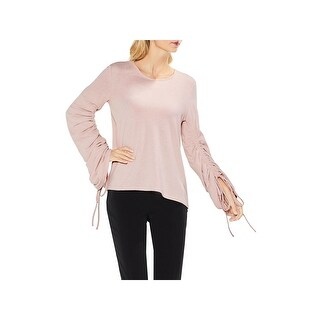 Vince Camuto Womens Pullover Sweater Brushed Jersey Shirred