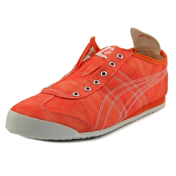 reputable site 487f6 42ddb ... good onitsuka tiger by asics mexico 66 slip on women orange white  sneakers shoes 56b55 baa83