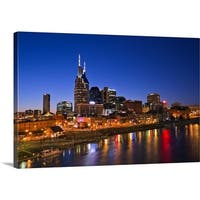 Premium Thick-Wrap Canvas entitled Nashville, Tennessee skyline - Multi-color