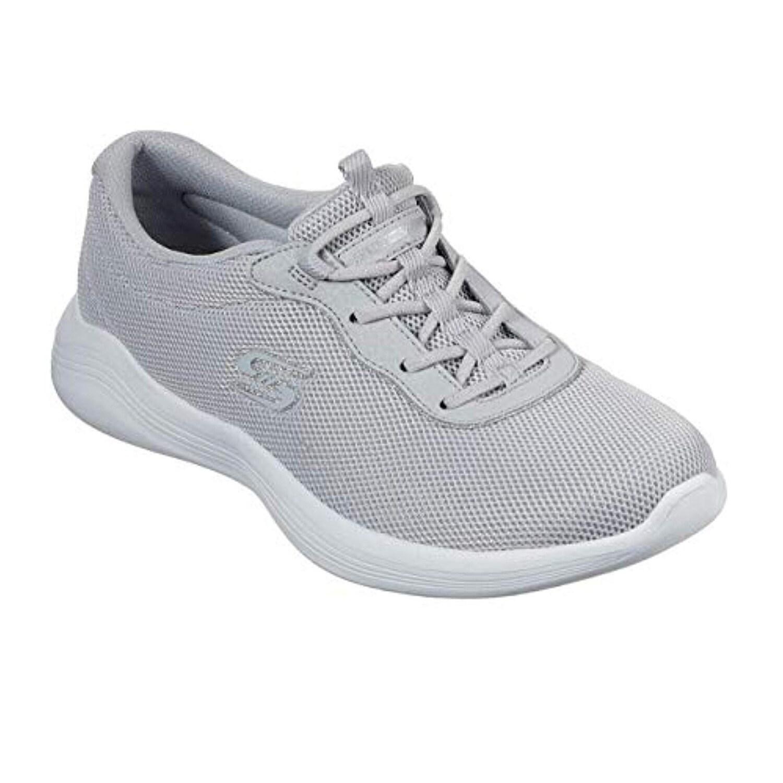 Skechers Envy Womens Slip On Sneaker Gray