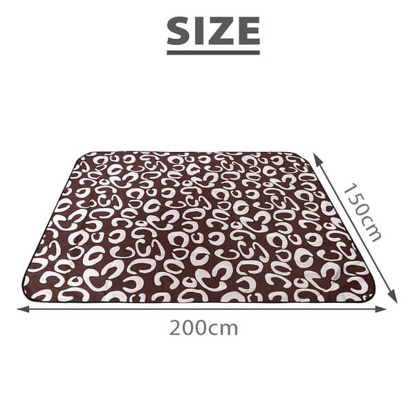 Velvet Blanket Mat Outdoor Picnic Rug Mat for Camping,Family Day Out Youngnet Picnic Blankets BBQ 96x114cm Beach Mat Travel
