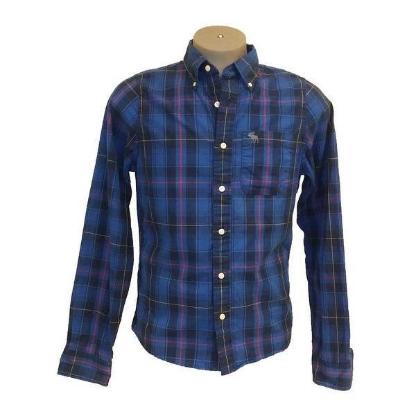 2c9f3f599 Shop Abercrombie & Fitch NY Muscle Plaid Long Sleeve Cotton Shirt - Free  Shipping On Orders Over $45 - Overstock - 27883653