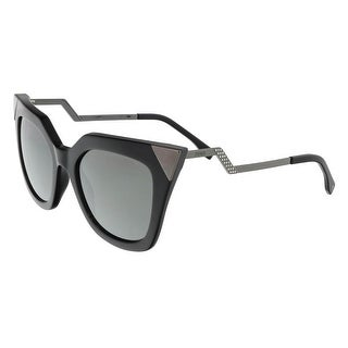 Fendi FF0060S 0KKL Iridia Black Cat Eye Sunglasses
