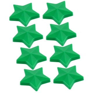 Household Blackboard Star Design Fridge Refrigerator Magnets Green 8 Pcs
