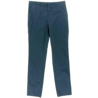 Hardy Amies Mens Poplin Heddon Fit Trouser Pants - 32