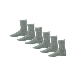Rugged Frontier Mens Crew Socks 6 Pack Performance - 10-13