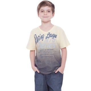 Boys T-Shirt Graphic Tee V-Neck Summer Top Kids Clothing 2-10 Years Pulla Bulla
