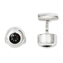 Chisel Stainless Steel Functional Compass Cuff Links