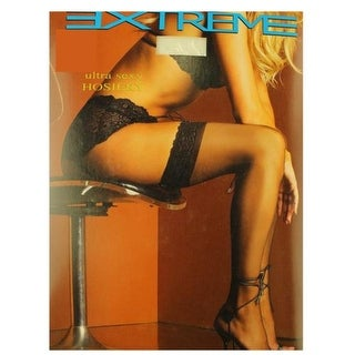 Extreme Hoisiery Womens Sheer Lace Trim Stockings