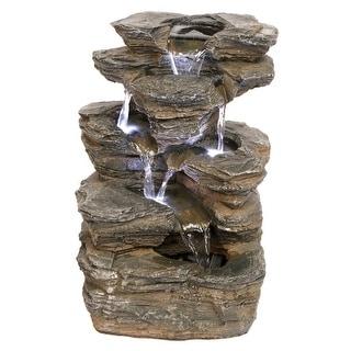Design Toscano Devil's Thumb Falls Illuminated Garden Fountain