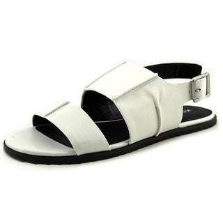Kelsi Dagger Panther Women Open Toe Leather White Sandals