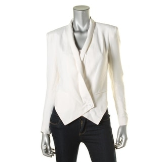 Rebecca Minkoff Womens Silk Asymmetric One-Button Blazer