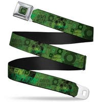 Green Lantern Logo Weathered Full Color Greens Green Lantern Logo Collage Seatbelt Belt