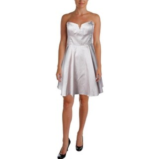Aidan Mattox Womens Metallic Party Cocktail Dress
