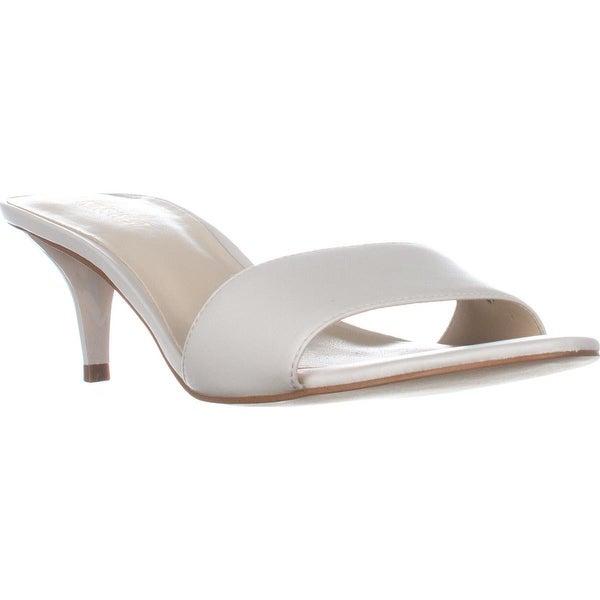 Nine West Lynton Slide Dress Sandals, Off White