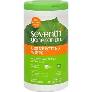 Seventh Generation Disinfecting Wipes Lemongrass and Citrus - 70 Wipes Household Cleaners