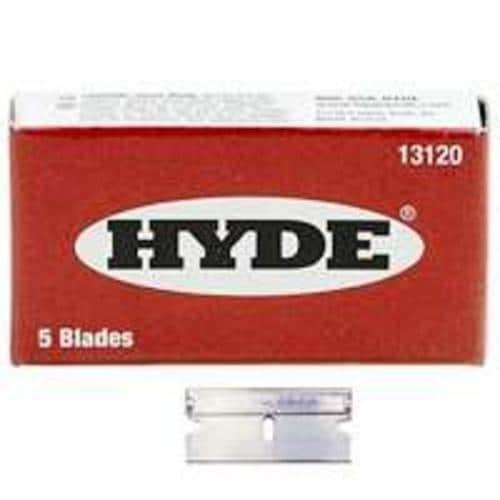 Hyde 13120 Single Edge Razor Blade, Box of 5