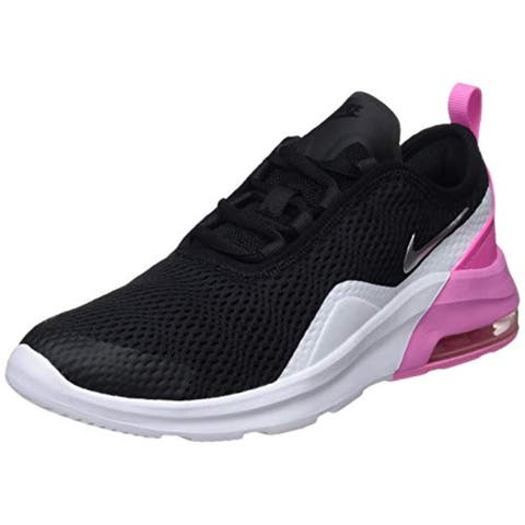 Nike Girl'S Air Max Motion 2 Shoe Black/Metallic Silver/Psychic Pink/White Size 6 M Us