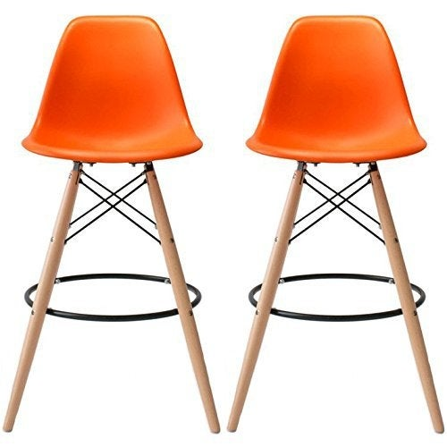 2xhome Set Of Two 2 Orange Eames Chair Style Dsw