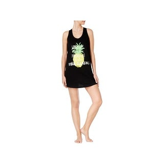 Jenni by Jennifer Moore Womens Pina Coladas Sleep Tank Pineapple Racerback