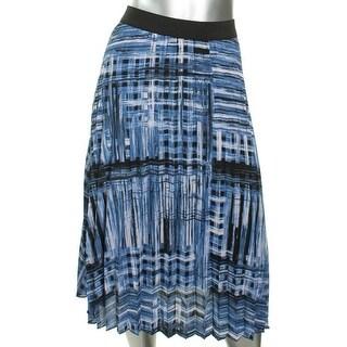 Robert Rodriguez Womens Pleated Skirt Pleated Printed - M