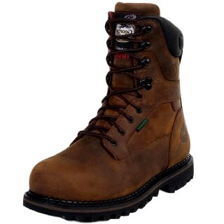 "Georgia Boot Work Mens 8"" Waterproof Insulated Goodyear Brown"
