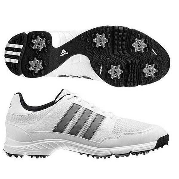 White/Dark Silver Metallic Golf Shoes