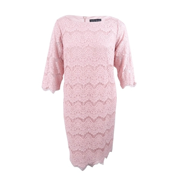 Shop Jessica Howard Women\'s Plus Size Lace Sheath Illusion Dress ...