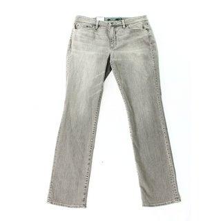 Lauren Ralph Lauren NEW Gray Womens Size 12 Stretch Skinny-Fit Jeans