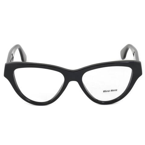 Miu Miu SMU10NV 1AB1O1 Cat Eye Black Eyeglass Frames - 52mm x 16mm x 145mm