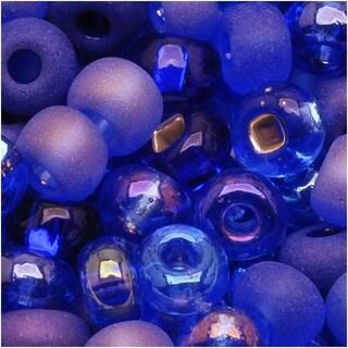 Czech Seed Beads 6/0 Mix Blue Moon Cobalt & Sapphire (1 Ounce)