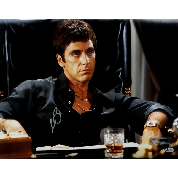 37a8b4a0d Al Pacino Signed Scarface Tony Montana 16x20 Closeup Photo Beckett BAS
