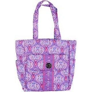 """Lavender Tapestry - Mary Maxim Quilted Yarn Stash Bag 21""""X10""""X6"""""""