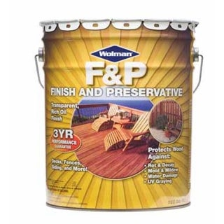 Wolman 1439-5 Wood Finish & Preservative, 5 Gal, Natural