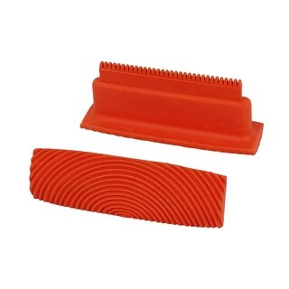 Unique Bargains MS21 Home Household Wall Art Paint Rubber Wood Graining Tool 5 Inch Red 2pcs