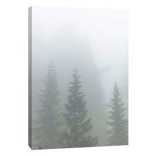 "PTM Images 9-108818  PTM Canvas Collection 10"" x 8"" - ""Mist on the Woods"" Giclee Trees Art Print on Canvas"