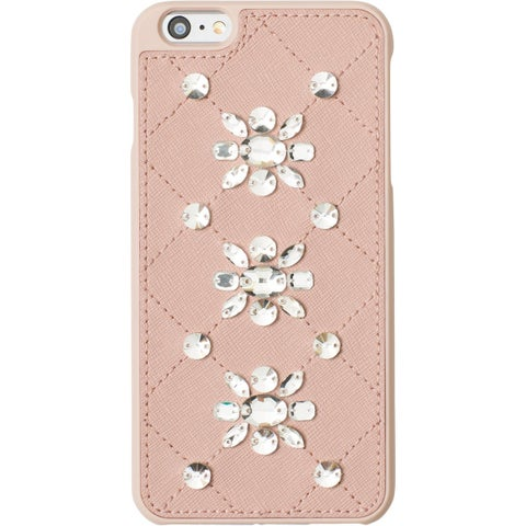 Michael Kors Cell Phone Case Leather Embellished