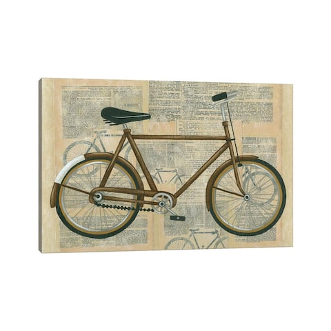 """iCanvas """"Tour By Bicycle I"""" by Chariklia Zarris Canvas Print"""