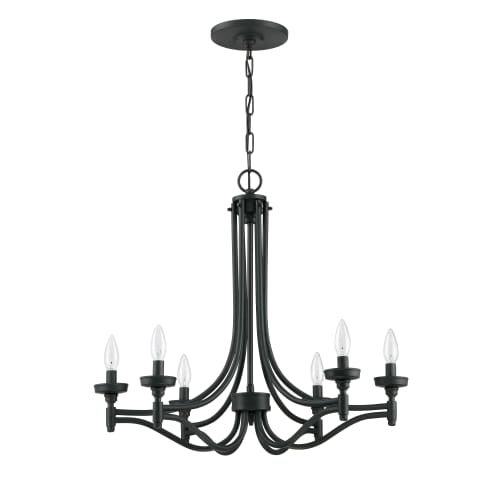 "Jeremiah Lighting 41426 Sophia 6 Light 26"" Wide Single Tier Chandelier"