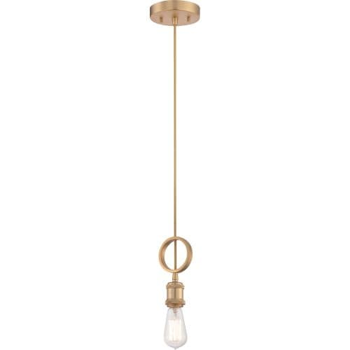 "Nuvo Lighting 60/5712 Single Light 5"" Wide Mini Pendant - natural brass"