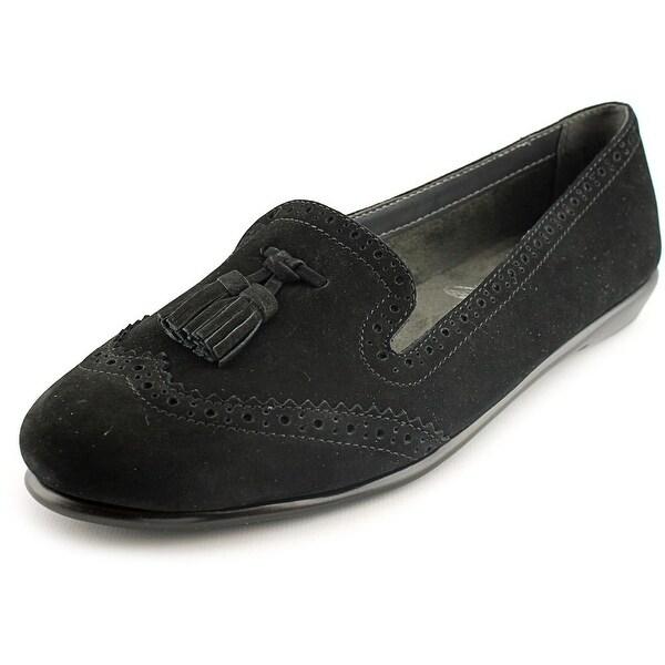 Aerosoles Winning Bet Women Round Toe Leather Black Loafer