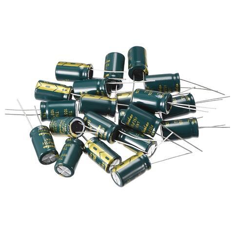 Aluminum Radial Electrolytic Capacitor Low ESR Green 680UF 35V 10 x 17 mm 20pcs
