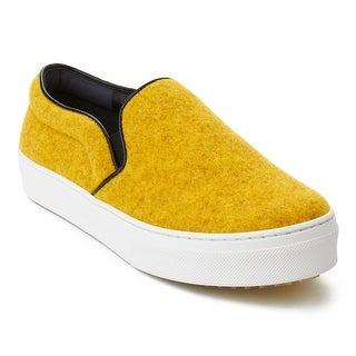 CélineWomen's Faded Felt Slip-On Sneaker Shoes Yellow