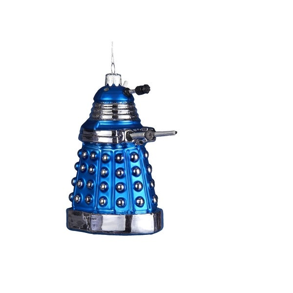 Doctor Who Blue Dalek 5 Glass Ornament""
