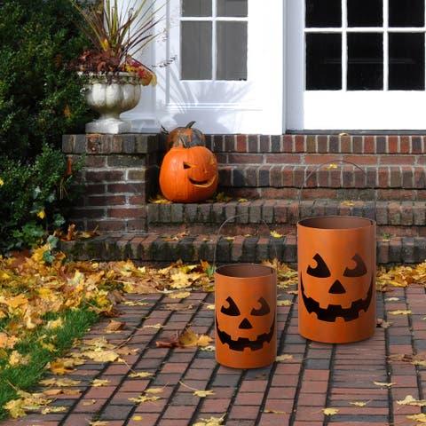 Glitzhome Set of 2 Halloween Jack-O-Lantern