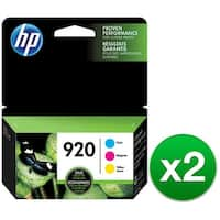 HP 920 Multi Color Original 3 Ink Cartridges (N9H55FN)(2-Pack)