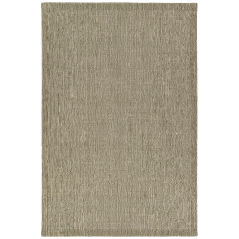 Copper Grove Thuanan Wool Solid Bordered Area Rug